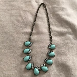 J.Crew Turquoise Blue Statement Necklace